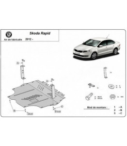 Engine metal shield - Skoda Rapid NH1 (2013-2017)
