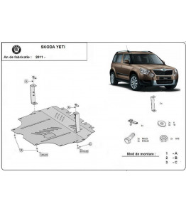 Engine metal shield - Skoda Yeti (2013-)