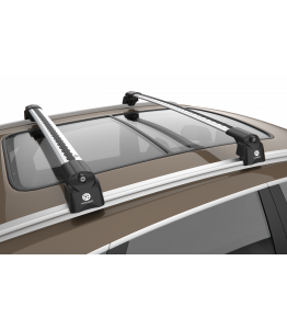 SEAT LEÓN ST (2014-) - Premium roof rack cross bars- bright silver - V2