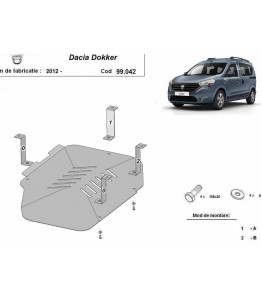 Fuel tank metal shield - DACIA Dokker