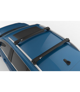 NISSAN QASHQAI Q11 - Premium roof rack cross bars- deep black - V1