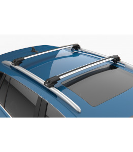 NISSAN QASHQAI J11  - Premium roof rack cross bars- bright silver - V1