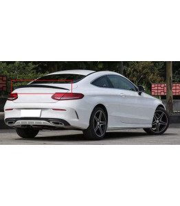 Rear trunk spoiler in 100% Carbon Fiber - Mercedes C-class W205 Coupe C300, C400, C43 AMG, C63 AMG 2015-2018